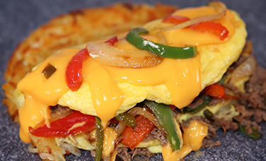 Cheese Steak Omelet