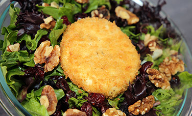 Goat Cheese Croquette salad